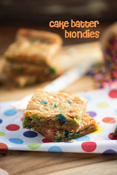 Cake Batter Blondies - Easy Meal Plan #18