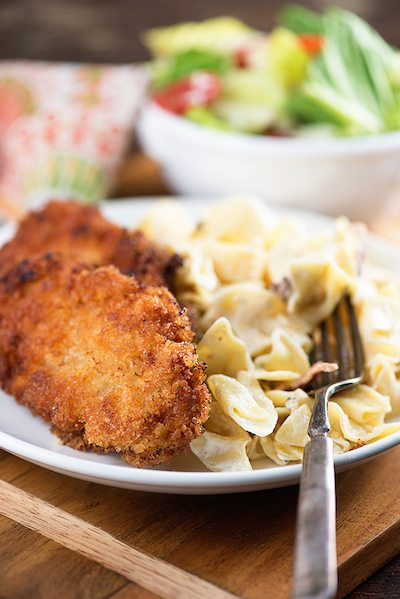 Pork Milanese with Cream Cheese Noodles - Easy Meal Plan #19