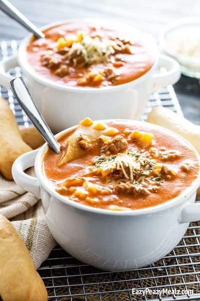 Lasagna Soup - Easy Meal Plan #16