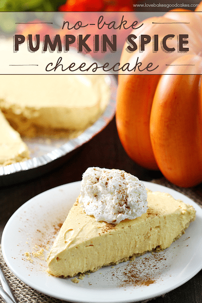 No Bake Pumpkin Spice Cheesecake - Easy Meal Plan #20