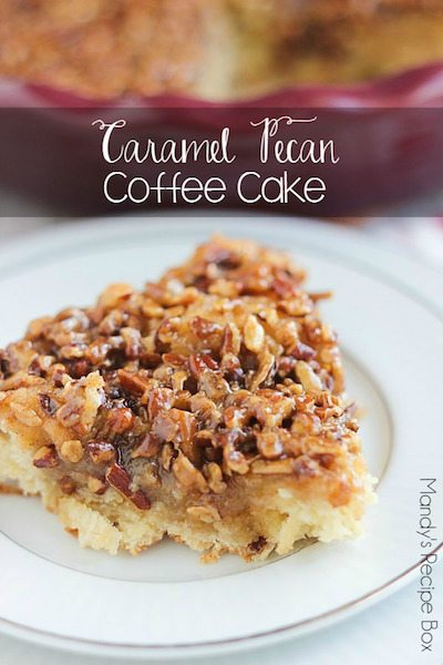 Caramel Pecan Coffee Cake - Easy Meal Plan #20