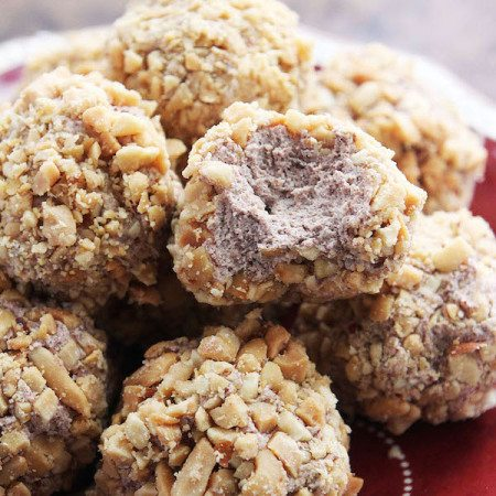 Chocolate Cream Peanut Balls IG