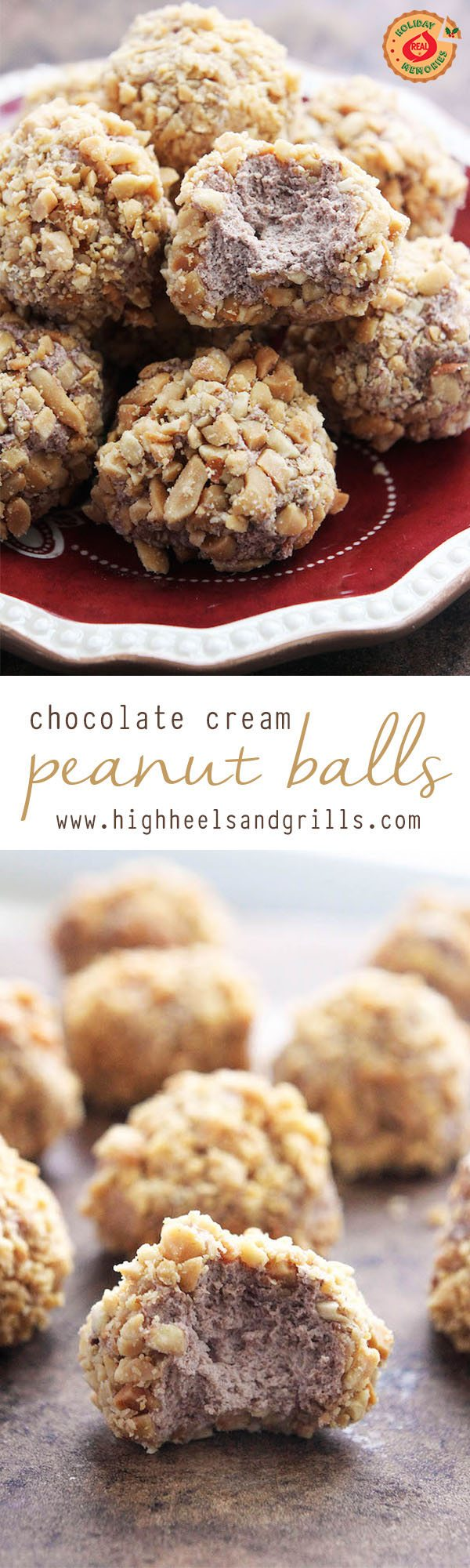 Chocolate Peanut Cream Balls Collage RS