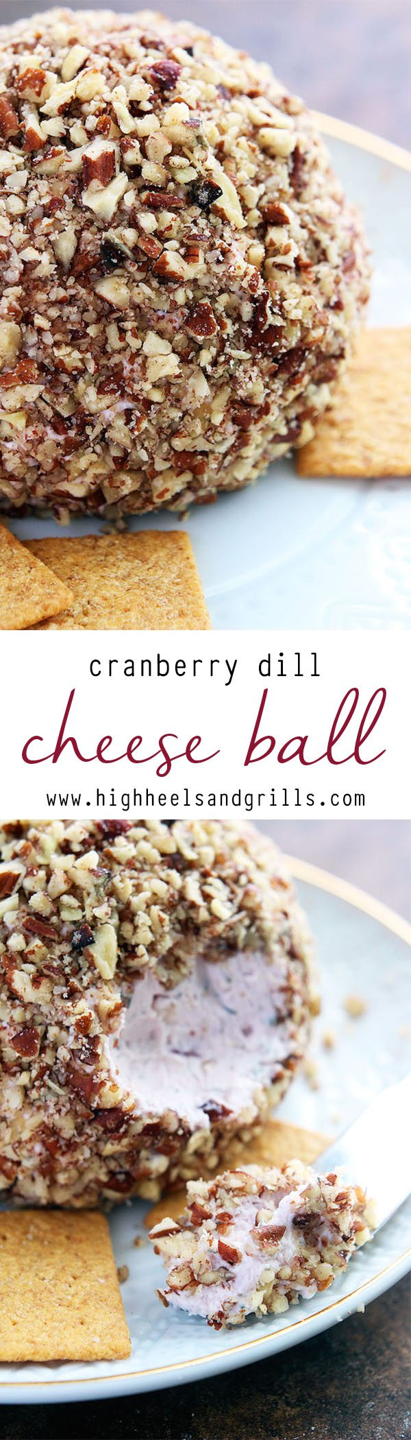 Cranberry Dill Cheese Ball - The perfect Thanksgiving or Christmas appetizer!