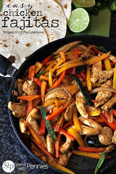 Easy Chicken Fajitas - Easy Meal Plan #20