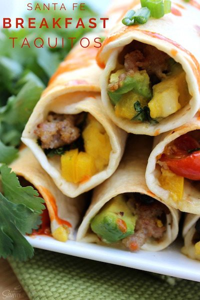 Santa Fe Breakfast Taquitos - Easy Meal Plan #21