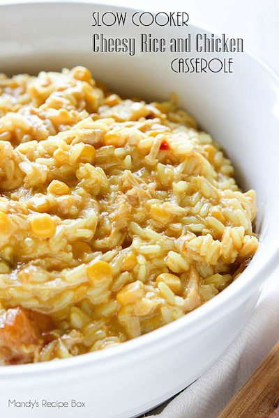 Slow Cooker Cheesy Chicken and Rice Casserole - Easy Meal Plan #22