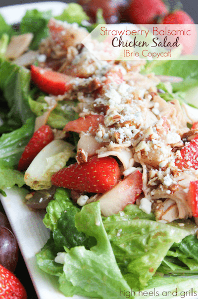 Strawberry Balsamic Chicken Salad Brio Copycat - Easy Meal Plan #22