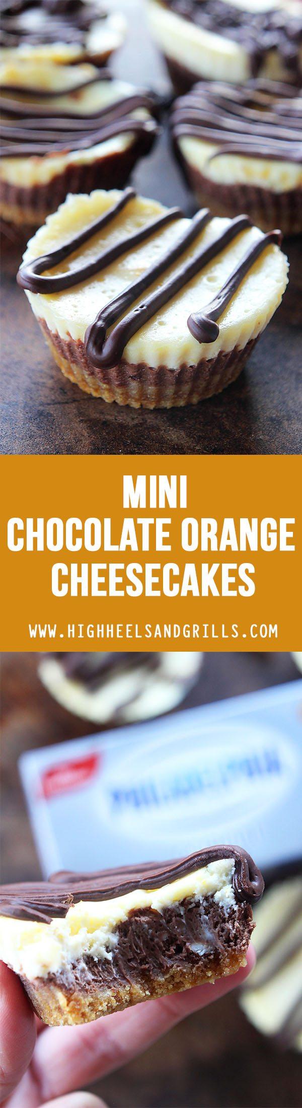 Mini Chocolate Orange Cheesecakes Collage