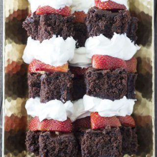 Strawberry Brownie Shortcake Kabobs