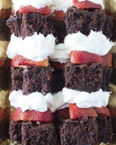 Strawberry Brownie Shortcake Kabobs