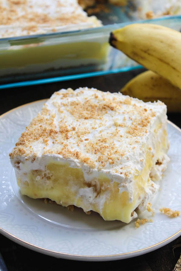 No bake banana pudding layer dessert high heels and grills for Easy no bake dessert recipes with few ingredients