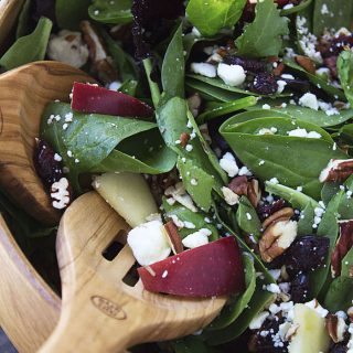 Apple Cranberry Feta Pecan Salad