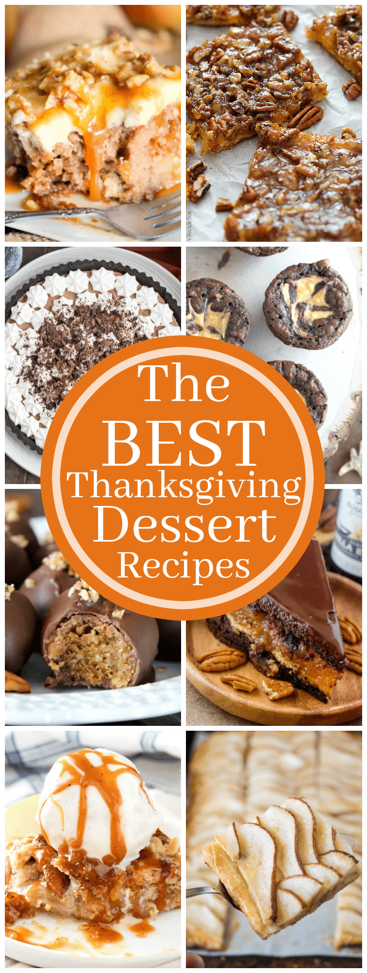 These are some of the very Best Thanksgiving Dessert Recipes! Pick a few to put on your Thanksgiving menu this year! #thanksgiving #dessert #thanksgivingmenu #dessertrecipes