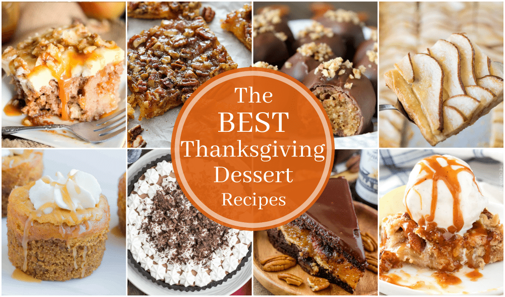 Best Thanksgiving Dessert Recipes Collage