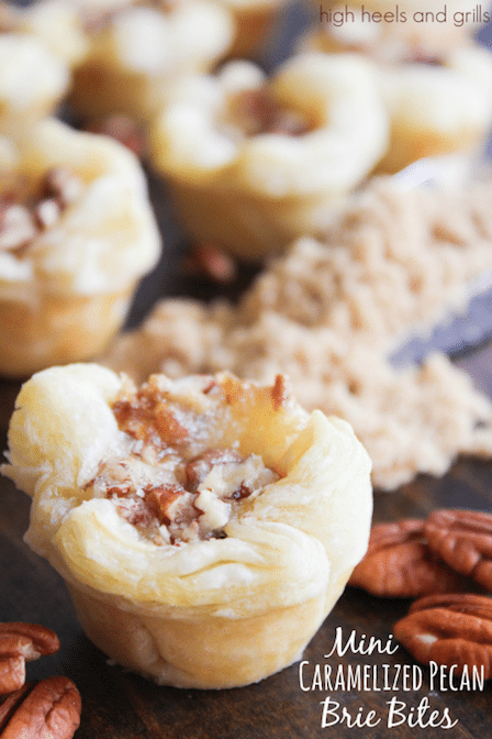 Best Appetizer Recipes - Mini Caramelized Pecan Brie Bites