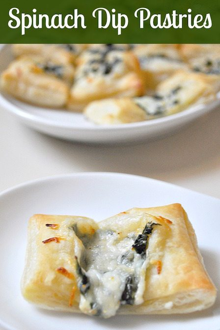 Best Appetizer Recipes - Spinach Dip Pastry