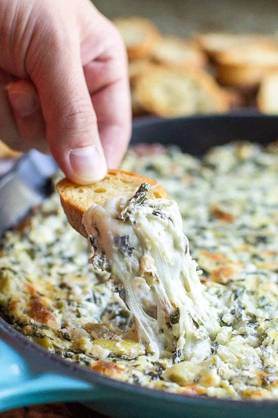 Best Thanksgiving Side Dishes - Spinach Artichoke Dip Recipe