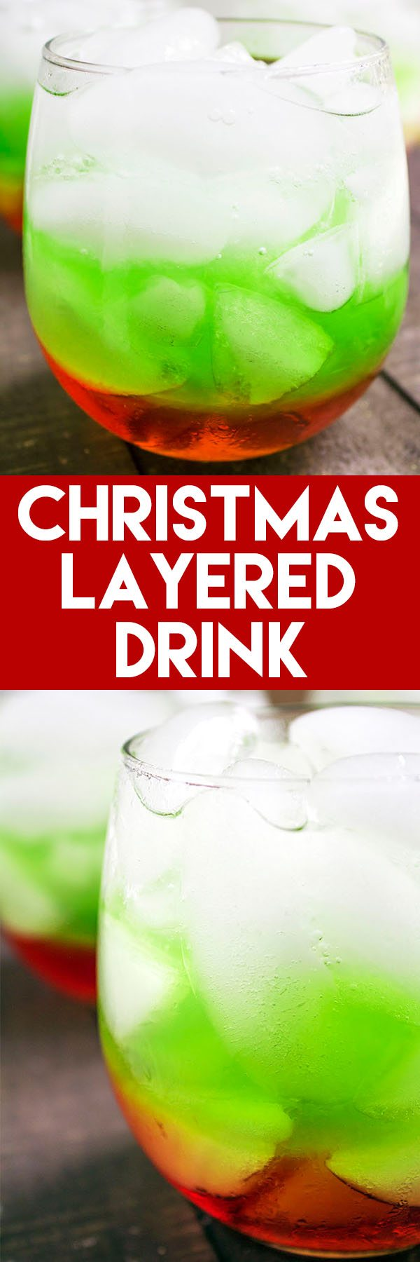 This Christmas Layered Drink is such a festive, holiday drink! #holiday #christmas #drink #recipe