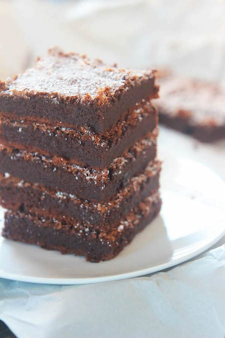 Stack of Nutella Brownies - Best Skinny Dessert Recipes
