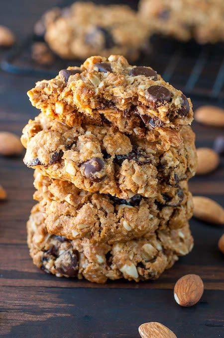 Stack of Skinny Chocolate Cherry Oatmeal Cookies - Best Skinny Dessert Recipes