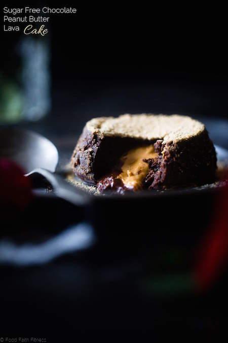 Single Serving Sugar Free Chocolate Peanut Butter Lava Cake - Best Skinny Dessert Recipes