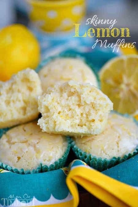 Basket of Skinny Lemon Muffins - Best Skinny Dessert Recipes