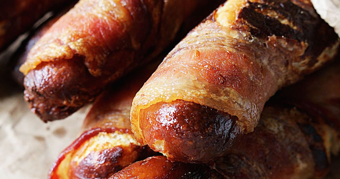 Bacon Wrapped Soft Pretzels | High Heels and Grills