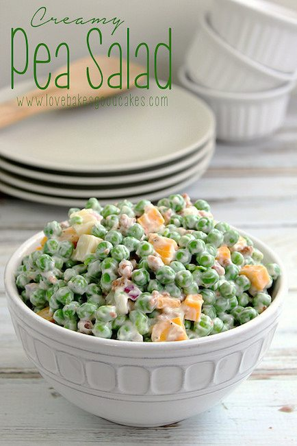 Creamy Pea Salad - Best Easter Side Dish Recipes
