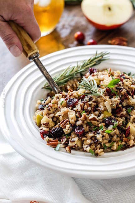 Cranberry Apple Pecan Wild Rice Pilaf - Best Easter Side Dish Recipes