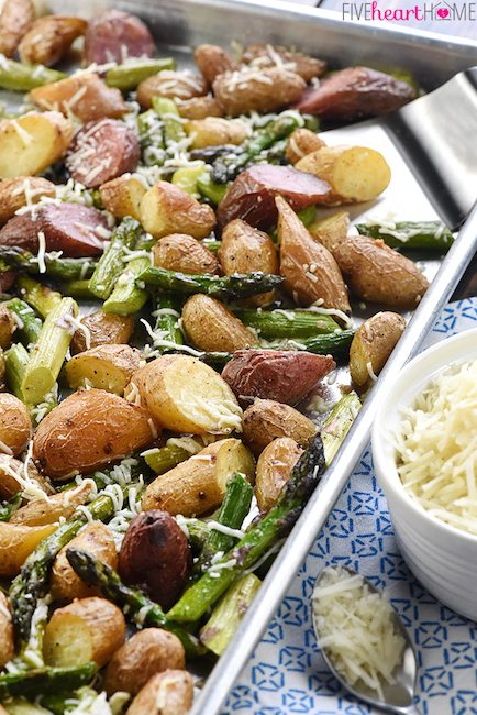 Garlic Potatoes and Asparagus - Best Easter Side Dish Recipes