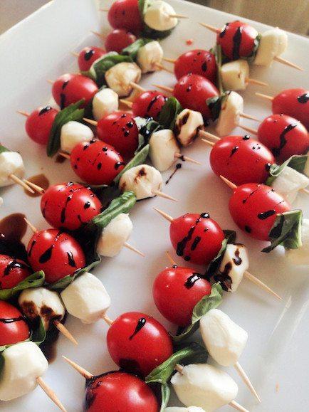 Caprese Salad Skewers - Best Easter Side Dish Recipes