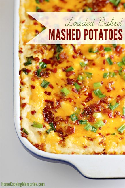 Loaded Baked Mashed Potatoes - Best Easter Side Dish Recipes