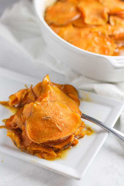Scalloped Sweet Potatoes with Maple Butter - Best Easter Side Dish Recipes