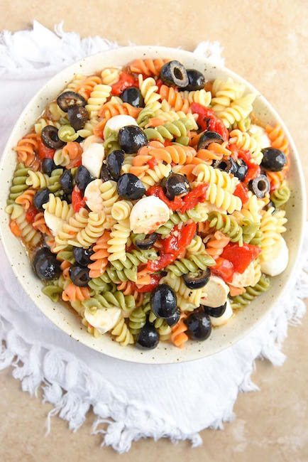 Tri-Colored Pasta Salad - Best Easter Side Dish Recipes