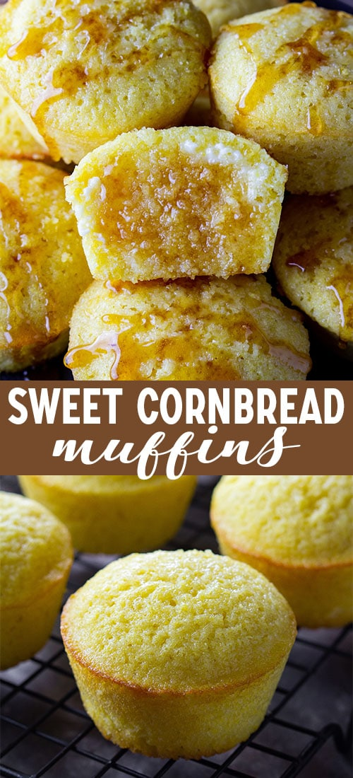 Look no further for a favorite cornbread recipe, because these sweet cornbread muffins are it! They are moist, flavorful, and soak up butter like nothing else. #sweetcornbreadmuffins #thanksgivingsidedish #ad