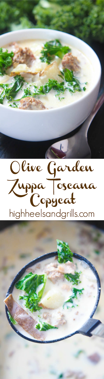 Olive garden zuppa toscana copycat high heels and grills for Olive garden copycat zuppa toscana