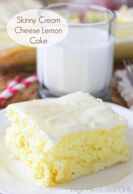 Skinny Cream Cheese Lemon Cake High Heels And Grills