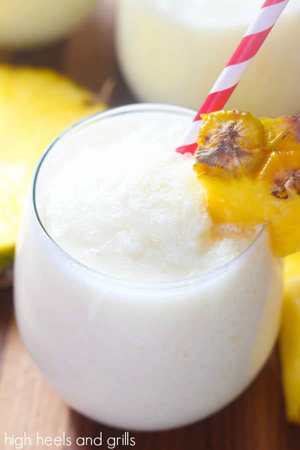 Virgin Pina Colada - Creamy, delicious, and perfect to cool off with!