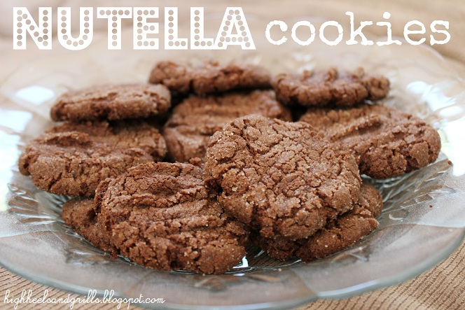 Plate of Nutella Cookies - High Heels and Grills