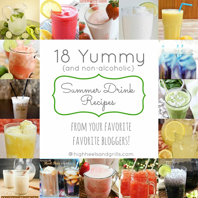 Summer Drink Recipes: 18 Yummy Summer Drink Recipes {Non-Alcoholic}